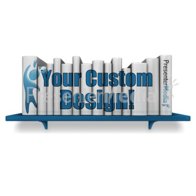 Bookshelf Books Custom Presentation clipart