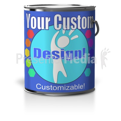 Custom Paint Can Presentation clipart
