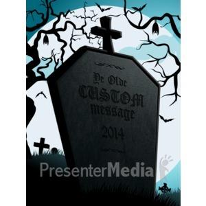 ID# 15589 - Halloween Tombstone - Presentation Clipart