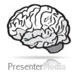 ID# 15609 - Brain Line Sketch - Presentation Clipart