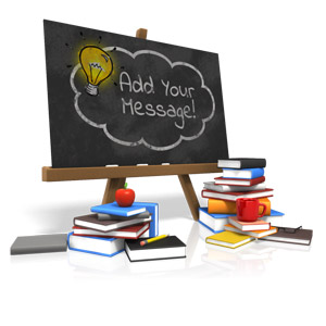 ID# 15633 - Custom Blackboard - Presentation Clipart