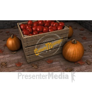 ID# 15642 - Autumn Crate Custom - Presentation Clipart