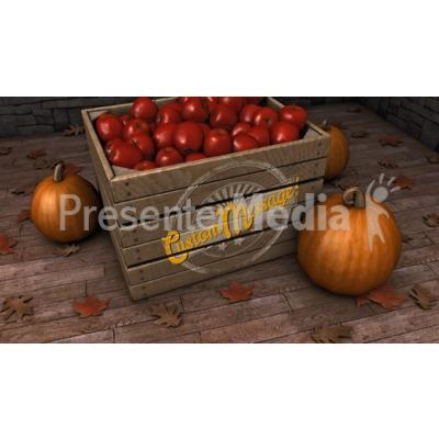 Autumn Crate Custom Presentation clipart