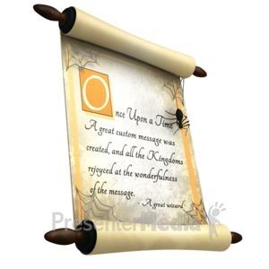 ID# 15652 - Halloween Scroll - Presentation Clipart