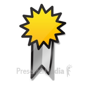 ID# 15704 - Ribbon Sticker Icon - Presentation Clipart