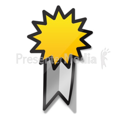 Ribbon Sticker Icon PowerPoint Clip Art