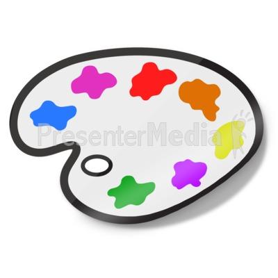 Painters Palette Icon Sticker PowerPoint Clip Art