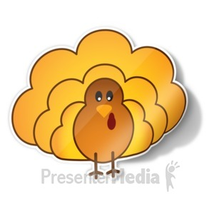 ID# 15722 - Turkey Icon Sticker - Presentation Clipart