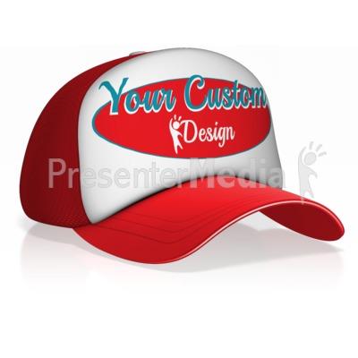 Custom Design Ball Cap Presentation clipart
