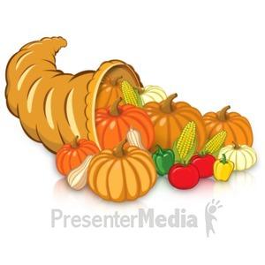 ID# 15730 - Cornucopia Harvest - Presentation Clipart