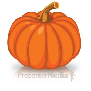 ID# 15735 - Single Orange Pumpkin - Presentation Clipart