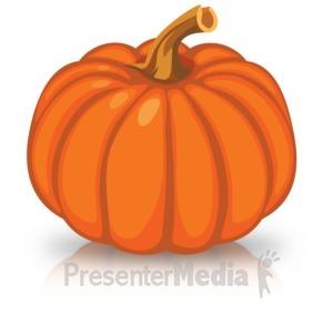 ID# 15735 - Single Orange Pumpkin - Presentation Clipart