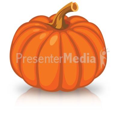 Single Orange Pumpkin PowerPoint Clip Art