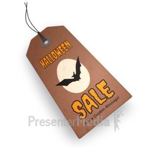 ID# 15750 - Halloween Price Tag - Presentation Clipart