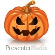 ID# 15751 - Single Scary Pumpkin - Presentation Clipart