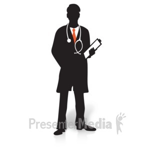 ID# 15752 - Doctor Clipboard Silhouette - Presentation Clipart