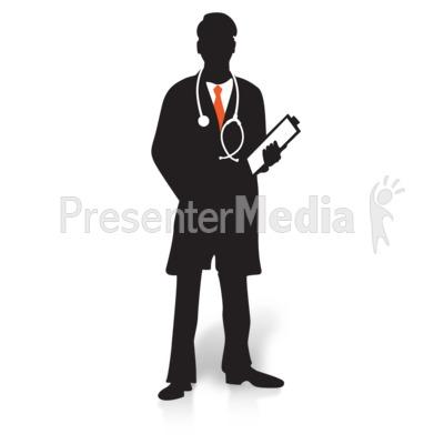 Doctor Clipboard Silhouette PowerPoint Clip Art