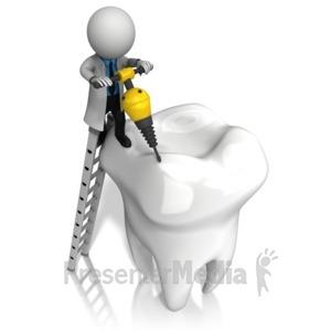 ID# 15754 - Dentist Jackhammer Tooth - Presentation Clipart