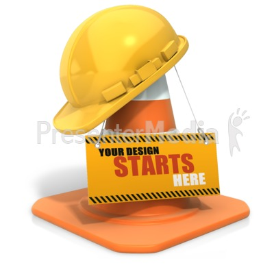 Construction Helmet Custom Sign Presentation clipart