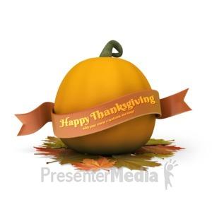ID# 15774 - Pumpkin Banner Custom - Presentation Clipart