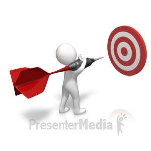 ID# 15776 - Figure Sizing Up Target - Presentation Clipart