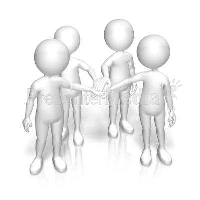 Figures Huddle Team PowerPoint Clip Art
