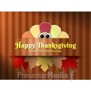 ID# 15778 - Turkey Peek Custom - Presentation Clipart
