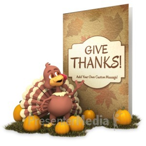 ID# 15792 - Greeting Card Turkey - Presentation Clipart