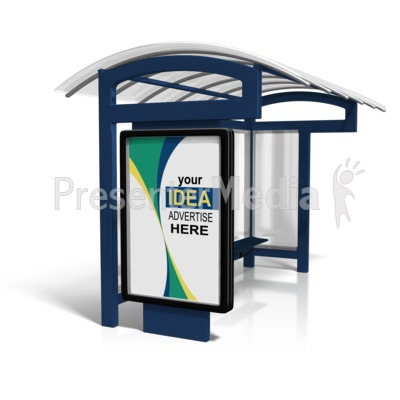 Bus Stop Billboard Sign Custom Presentation clipart