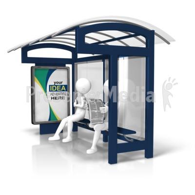 Bus Stop Custom Display Presentation clipart
