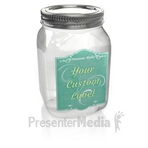 ID# 15822 - Mason Jar Custom - Presentation Clipart