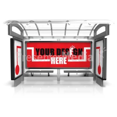 Custom Bus Stop Three Piece Presentation clipart