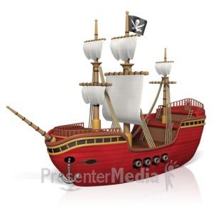 ID# 15828 - Pirate Ship - Presentation Clipart
