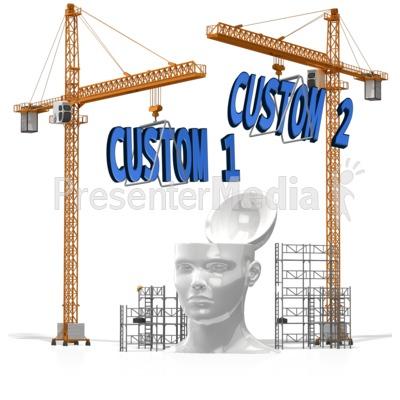 Custom Text Into Head PowerPoint Clip Art
