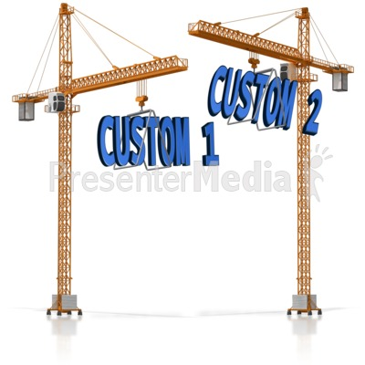Custom Text On Crane PowerPoint Clip Art