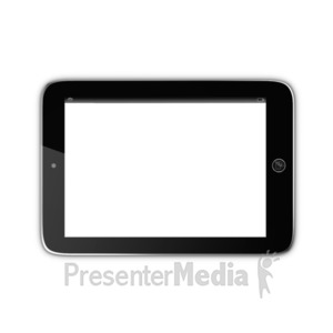 ID# 15850 - Tablet With Transparent Screen - Presentation Clipart