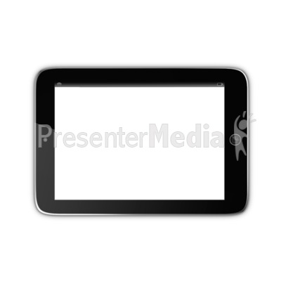 Tablet With Transparent Screen PowerPoint Clip Art