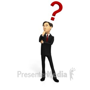 ID# 15868 - Business Man Pondering Question - Presentation Clipart