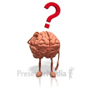 ID# 15870 - Brain Posing Question - Presentation Clipart
