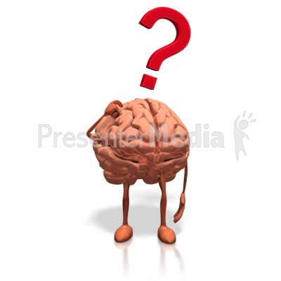 Brain Posing Question PowerPoint Clip Art