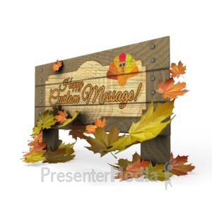 ID# 15878 - Autumn Sign - Presentation Clipart
