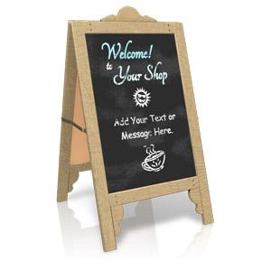 ID# 15880 - Custom Sidewalk Cafe Sign - Presentation Clipart