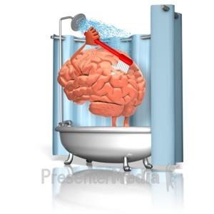 ID# 15887 - Brain Wash - Presentation Clipart