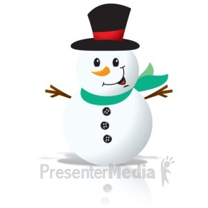 ID# 15904 - Simple Snowman - Presentation Clipart