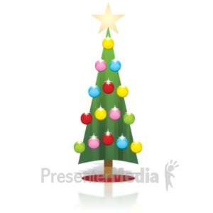 ID# 15905 - Simple Christmas Tree - Presentation Clipart