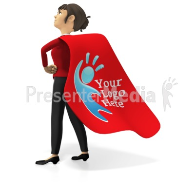 Businesswoman Superhero Custom Cape Presentation clipart