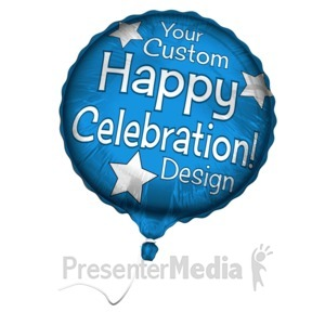 ID# 15928 - Custom Mylar Balloon - Presentation Clipart