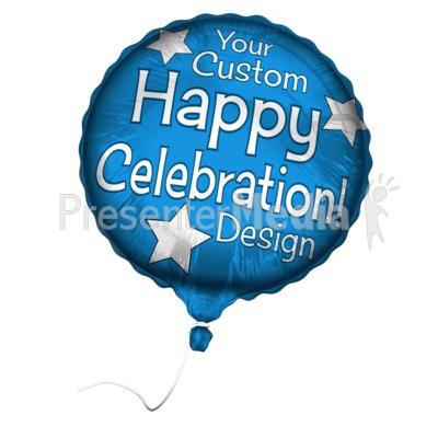 Custom Mylar Balloon Presentation clipart