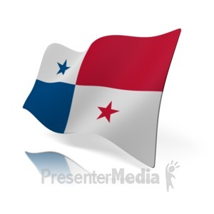 ID# 15945 - Panama Flag - Presentation Clipart