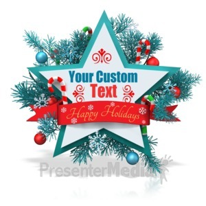 ID# 15948 - Custom Christmas Star Banner - Presentation Clipart